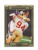 CHARLES HALEY SAN FRANCISCO 49ER'S 1990 TRADING CARD #243 WITH 3D EFFECT